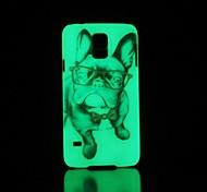 Pug Pattern Glow in the Dark Hard Case for Samsung Galaxy S5