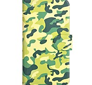 Camouflage Pattern PU Mobile Phone Holster With Card Slot for Samsung Galaxy Core 2 G3558/G3559