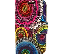 Sunflower Pattern PU Leather with Case and Card Slot for Samsung S3 Mini I8190
