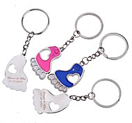 Personalized Engraving Feet Metal  Couple Keychain