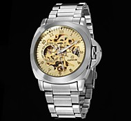 Men's Skeleton  Dial Steel Strap Automatic Mechanical Watch(Assorted Colors)