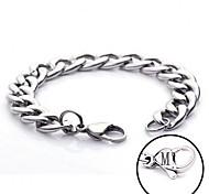 personalisiertes Geschenk Kettenarmband aus Edelstahl eingraviert Schmuck