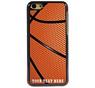 Personalized Phone Case - Basketball Design Metal Case for iPhone 5C