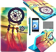 COCO FUN® Chinese Knot Pattern PU Leather Case with Screen Protector and Stylus for Sony Xperia SP  M35h