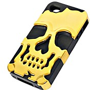 3D Silicone and Metal Fashion Cool Skulls Back Case Cover for iPhone 6(Assorted Colors)