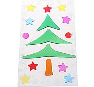 Weihnachtsbaum Schneeflocke Tür / Fenster / Wand-Aufkleber Dekoration