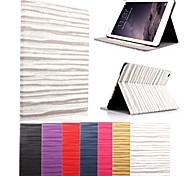 karzea® padrão de onda auto sono e wake-up estojo de couro pu com suporte e stylus para iPad mini 1/2/3 (cores sortidas)