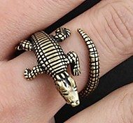 Z&X®  Vintage Punk Crocodile Copper Men's Open Ring