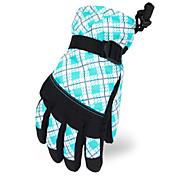 latitud norte 35 ° de poliéster de color azul claro guantes de esquí térmica para niños