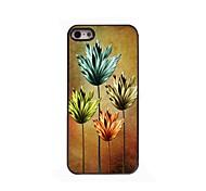 goldene Blumen-Design Aluminium-Hülle für das iPhone 4 / 4s