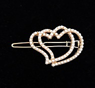 Fashion Personality Heart to Heart Pearl Hairpin