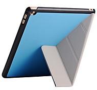 PU support magnétique 4 formes étui en cuir pour iPad 2 (air couleurs assorties)
