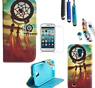 Campanula Design PU Leather with Stylus、Protective Film and Dust Plug for Samsung Galaxy S4 Mini I9190