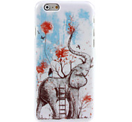 Girl and Elephant Design Hard Case for iPhone 6