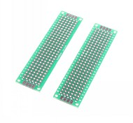 2 x 8cm Double-Sided Glass Fiber Prototyping PCB Universal Breadboard (2 pcs)