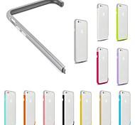 de color gris y bricolaje caso sólido diseño de parachoques del marco combinación de colores para el iphone 6 (colores surtidos)