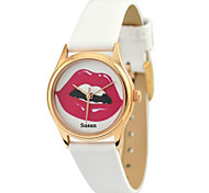 JUST2YOU™ Citizen Movement Women's SexyRed Lip Watch in Gold Case