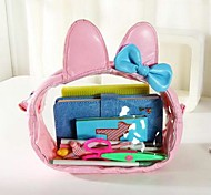 Women's Transparent Queen Size Lovely Rabbit Ears PU Cosmetic Bag(Random Color)