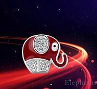 The Elephant Of The Lacquer Stud Earrings,in 925 Sterling Silver Earrings,Cubic Zirconia Earrings,Women's Earrings