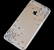 Drill Double Flower Pattern Hard Back Case for iPhone 6
