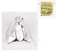 (10pc) 9 * 12cm bijoux de sac d'emballage de cadeau (or, argent)
