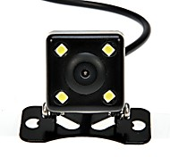 "HD 1/4"" CCD 420TVLine 4-LED Car Rearview Parking Camera Supports Night Vision 170-degree Wide Angle-Black"