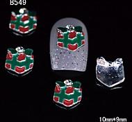10pcs Xmas Gifts 3D Alloy Nail Sticker DIY Nail Art Decoration