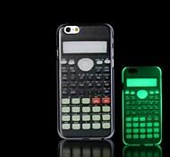 Calculator Pattern Glow in the Dark Hard Case for iPhone 6