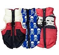 un paquete de chalecos chaqueta de algodón acolchado para perros 3 las ventas del grupo patrón diferentes (diferentes tamaños)