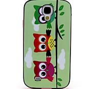 2-in-1 drei Eulen-Muster-TPU rückseitige Abdeckung mit pc autostoßfest weiche Tasche für Samsung S4 i9500