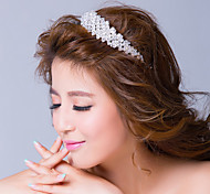 Clear Rhinestone Alloy Wedding Headpiece