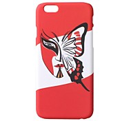 """Butterfly Face"" Pattern Design Case Hard Case for or iPhone 6"