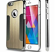 Electroplating Brushed Metal PC Hard Case for iPhone 6(Assorted Colors)