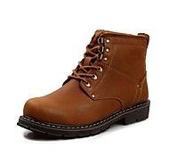 Men's Shoes Outdoor/Casual Calf Hair Boots Brown/Taupe