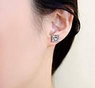 Square Stud Earrings Jewelry,in 925 Sterling Silver Earrings Jewelry,Cubic Zirconia Earrings,Women's Earrings Jewelry