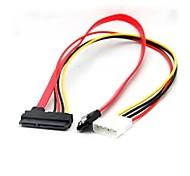 SATA de 22 clavijas al cable + 15 pin 7 pin
