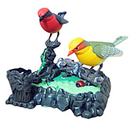 Voice-Control Big Size Couple Sparrow with Pen Holder and Drawer Tree Branch Toys