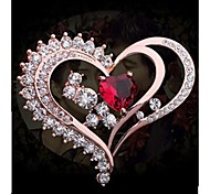 Fashion Diamond The Heart of the Ocean Brooch  Alloy Brooch (1pc)