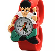 Children's Cartoon Pattern Round Dial Silicone Band Quartz Watch (Assorted Colors) Cool Watches Unique Watches