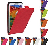 Flip-Open Horse Grain PU Leather Full Body Case for Samsung Galaxy Note 3 N9000 (Assorted Colors)