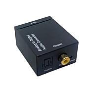 Analog l / r, um digitale SPDIF Koaxial Koax rca&optische Toslink Audio-Konverter
