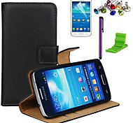 Elegant Desisn Genuine Leather Case with Screen Protector,Stylus, Dust Plug and Stand for Samsung Galaxy Express 2 G3815