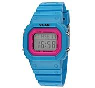 Vilam® 12036 Fashion Women's Square Dial Rubber Band Citizen 2035 Sports Digital Quartz Watch (Assorted Colors)