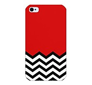 modello colorato linea posteriore Case for iPhone 4 / 4s