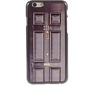 schwarze Tür Design Aluminium-Hülle für das iPhone 6