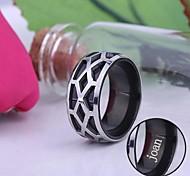 gioielli anello in acciaio inox inciso uomini regalo personalizzati di