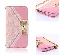 Elegant Design Cute Flip Wallet Leather Case for iPhone 5 (Assorted Colors)