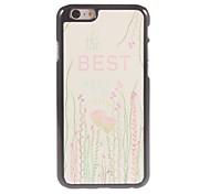 The Best Flower Design Aluminium Hard Case for iPhone 6
