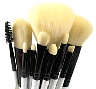 10pcs Makeup Brushes set Professional blush/powder/foundation/concealer brush shadow/eyeliner/eyelash/brow/lip brush cosmetic brush kit makeup tool