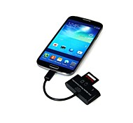 3 en 1 micro usb support de lecteur de carte d'interface USB 2.0 T-Flash carte sd mmc pour téléphone mobile ogt